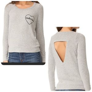 Chaser Weekends sweatshirt gray small